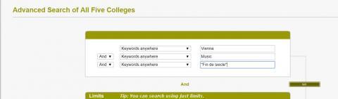 Advanced search-Vienna