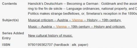 Subject terms-Vienna