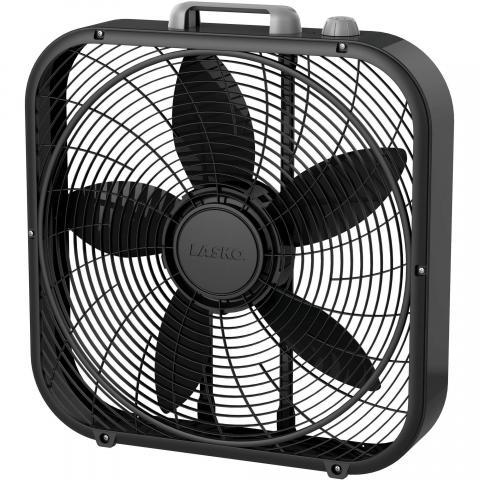 A black box fan