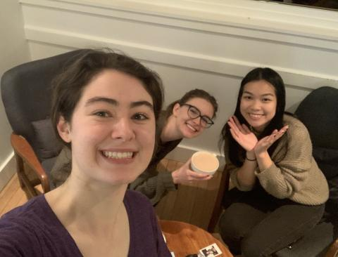 My friends and I at Share, a coffee place!