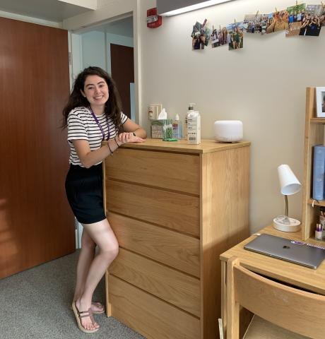 Me in my dorm room after moving in
