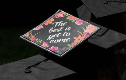 a graduation hat with the words The best is yet to come