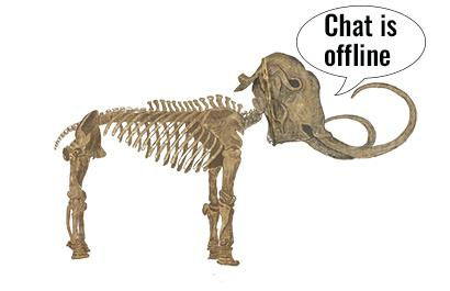Skeletal mammoth with Chat is Offline