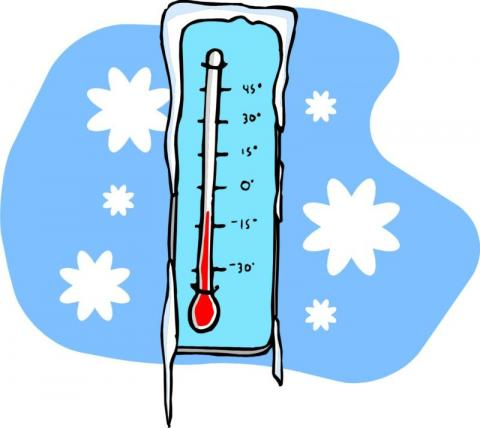a thermometer showing a cold temperature