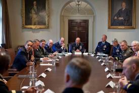 Barack Obama meets Combatant Commanders in the Cabinet