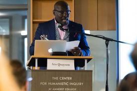 Ato Quayson speaking at the Digital Africas Symposium