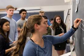 Students in Professor Olsen's Sport and Spectacle course