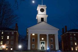 Johnson Chapel at night