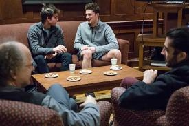 The German House hosts a weekly Kaffeeklatsch, an informal opportunity for students and faculty to gather and converse in German