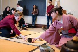 """Sam Morse's """"The Tea Ceremony and Japanese Culture"""" course"""