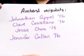 Amherst Celebrates a Year of Awards