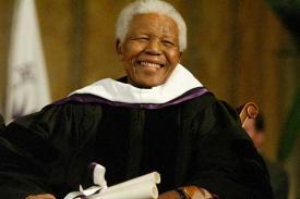 Nelson Mandela at Amherst College