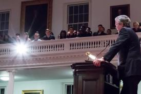 Jeb Bush speaks at Amherst College