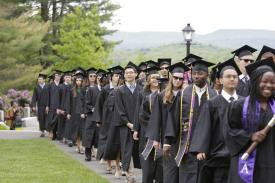 Amherst grads processing to Commencement