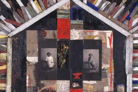 Baliey Radcliffe - Seven Steps East, 1993. Mixed media, 92 ½ x 114 inches.