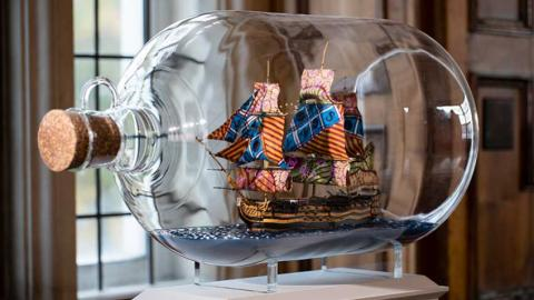 Nelson's Ship in a Bottle by Yinka Shonibare MBE