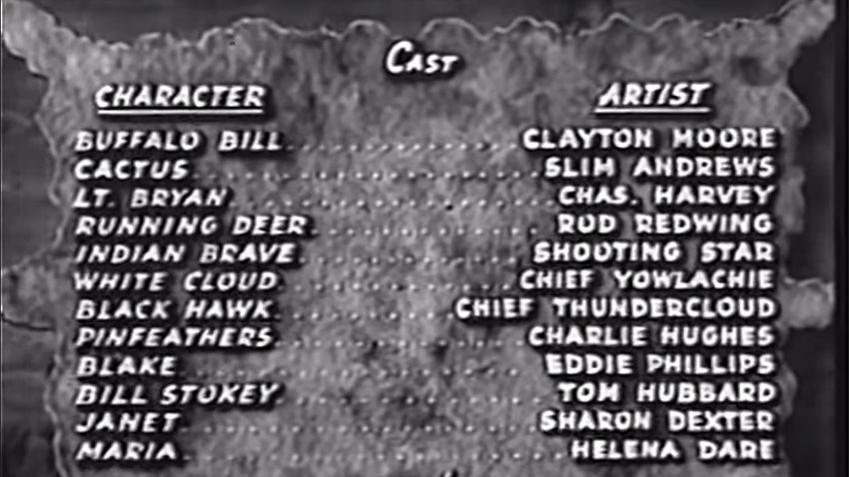 Credits from the film Buffalo Bill