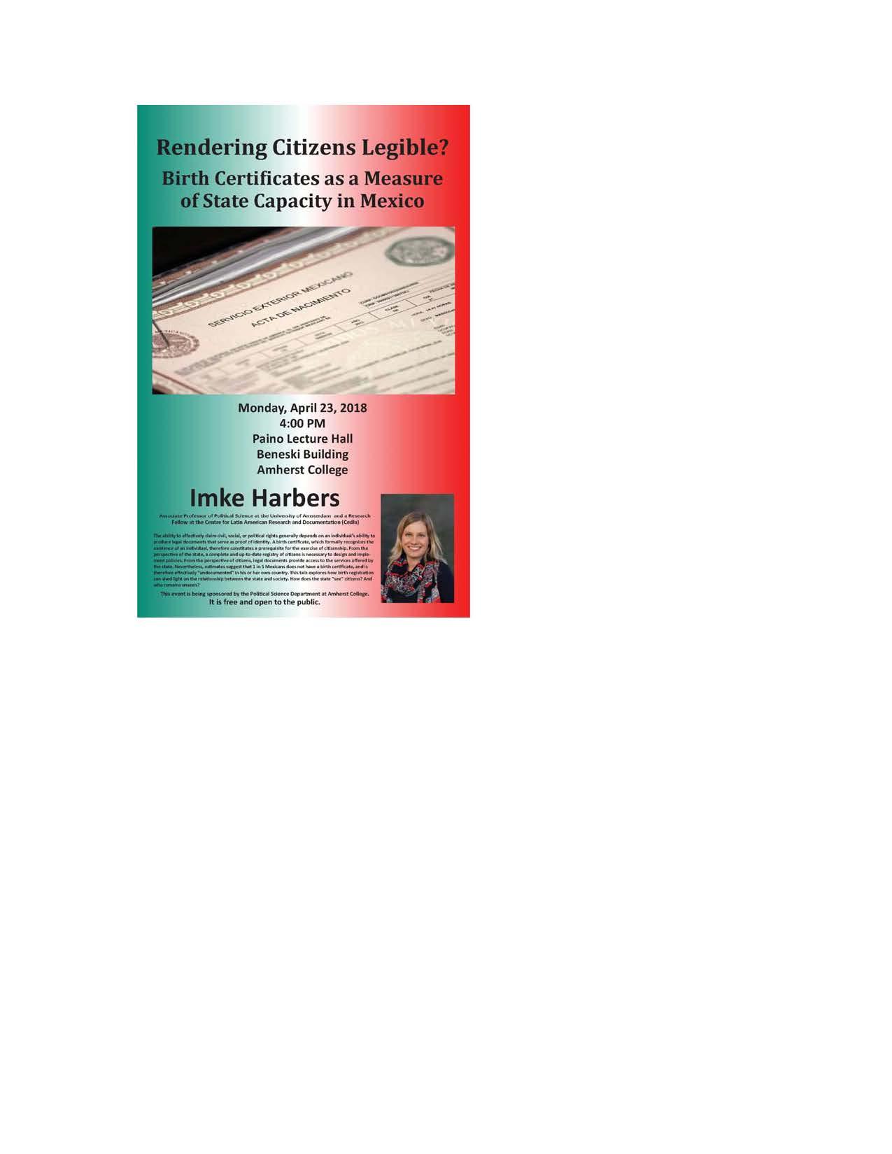 Event Calendar Rendering Citizens Legible Birth Certificates As