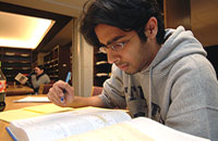 03 Student studying in Frost Library