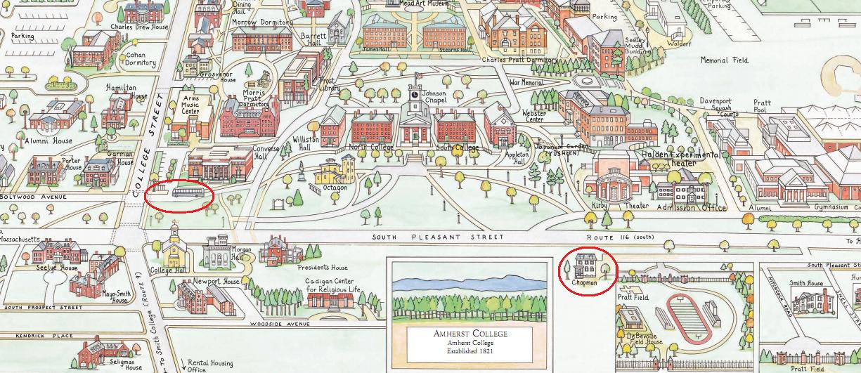 Amherst College Map McKinnon, Kathryn E. | Uploaded Files | Amherst College