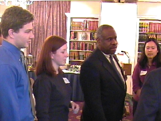 Clarence Thomas with Jordan Holmes, Pam Burkhardt and Nancy Kwang