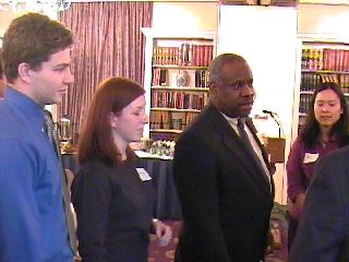Clarence Thomas with Jordan Holmes, Pam Burkhardt and Nancy Kwang