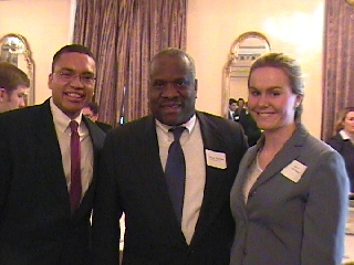 Justice Thomas with Niki and Kelly Tshibaka
