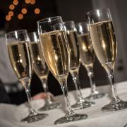 Pindar dinner champagne flutes
