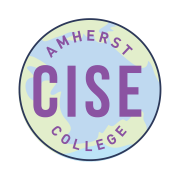 amherst college cise logo round with a globe in the background