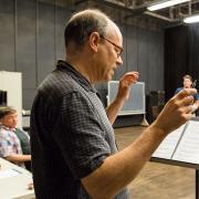 The Scarlet Professor rehearsal. Photo by Skylhur Tranquille '18