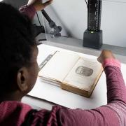 Scanning archival material