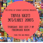 An image advertising trivia night