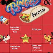 Bingo poster with Disney logos