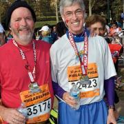 J.P. Dunn '79 after the half marathon