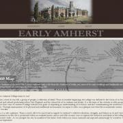 Screenshot of Early Amherst home page
