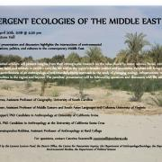 Emergent Ecologies of the Middle East