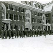 Student Army Training Corps Inspection, Pratt Dormitory, October 1918