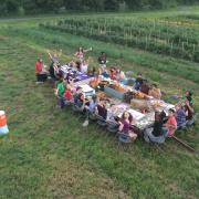 orientation dinner at the farm