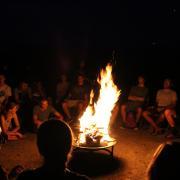 Bonfire with the Farm LEAP