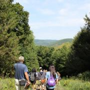 Hiking to see Wind and Solar Power in the Berkshires