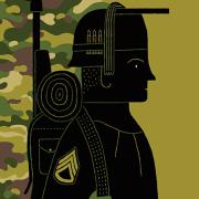 Illustration of a veteran by Adam McCauley