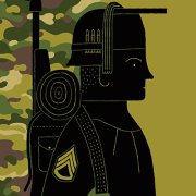 Illustration of a veteran by Adam McCauley