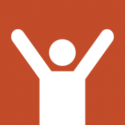 icon image of a person raising arms in the air
