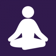icon image of a person seated in meditation
