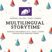 Multilingual Storytime flyer