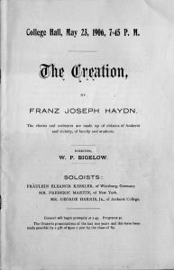 Music program, 1906