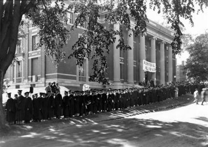 Commencement procession, 1934