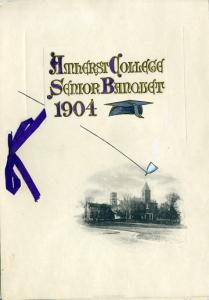 Cover of the 1904 Class Day Senior Banquet keepsake