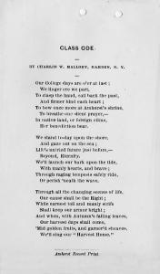 Class Ode, 1871