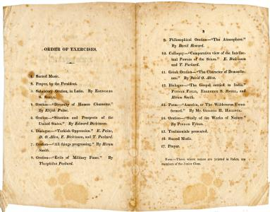 1822 commencement program